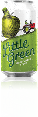 Can of Little Green Sweet Apple Cider
